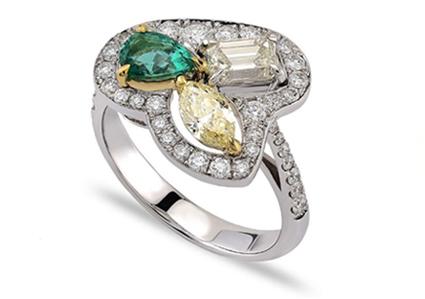 precious stones emerald ring