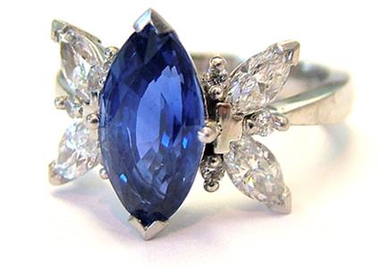 precious stones sapphire ring