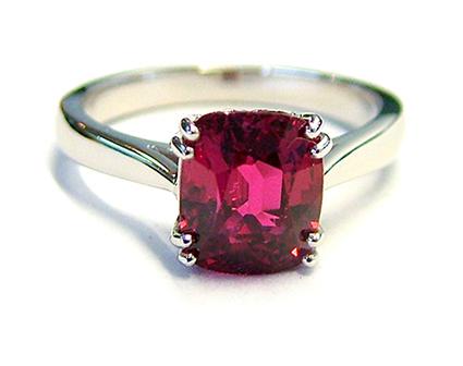 semi precious stones garnet ring