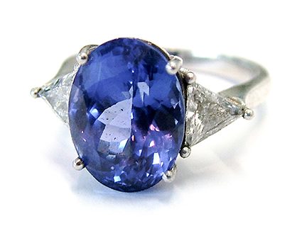 semi precious stones tanzanite ring