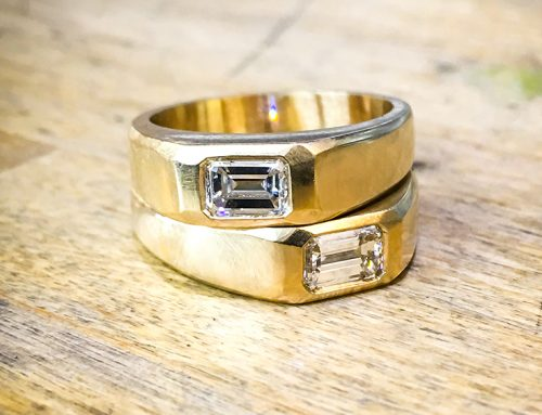 MENS JEWELLERY: 18ct Yellow Gold Diamond Set