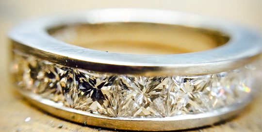 platinum diamond set ring