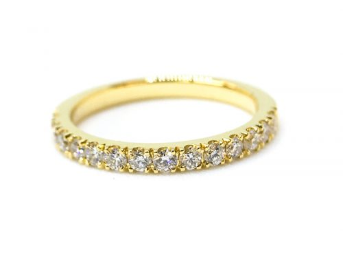 SHOWCASE: 18ct Yellow Gold Micro Set Eternity Ring