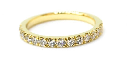 18ct yellow gold micro set eternity ring