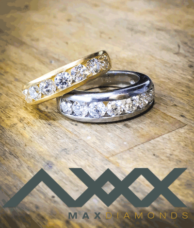 max diamonds logo and rings