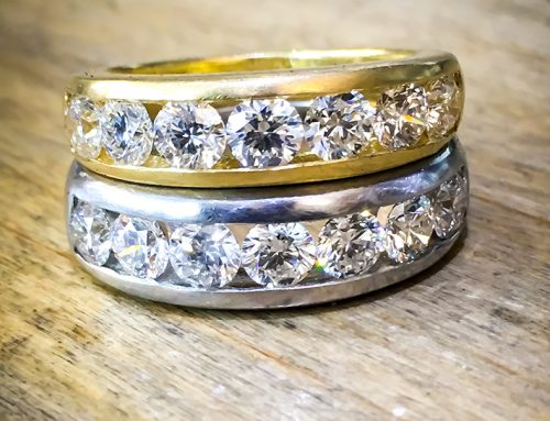 WEDDING RINGS: Platinum Diamond Set