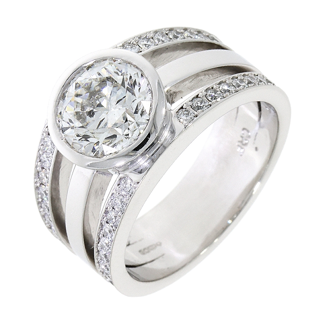 rub over and pave ring