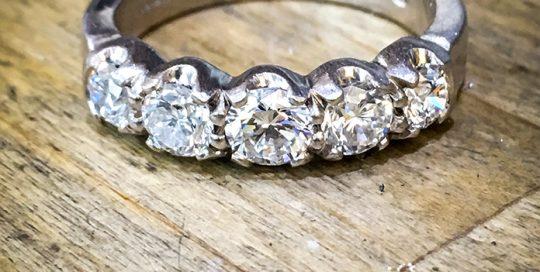 5 stone diamond engagement ring