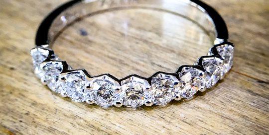 Platinum & Diamond Half Eternity Shared Claw