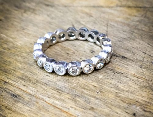 ETERNITY RINGS: Diamond & Platinum Brilliant Cut Full Eternity