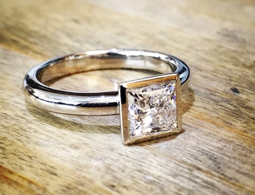 ENGAGEMENT RINGS: Princess Cut 18ct White Gold Solitaire