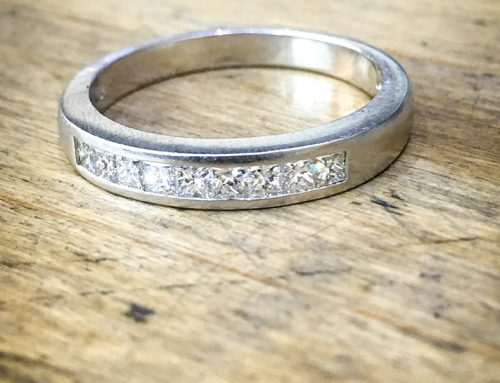WEDDING RINGS: Platinum & Princess Cut Diamond