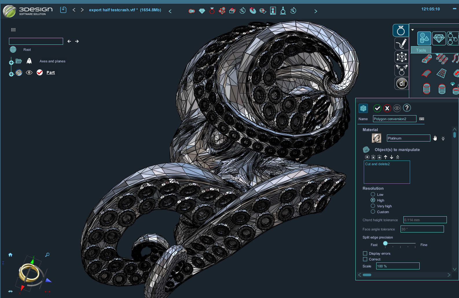 3Design design process polygon check