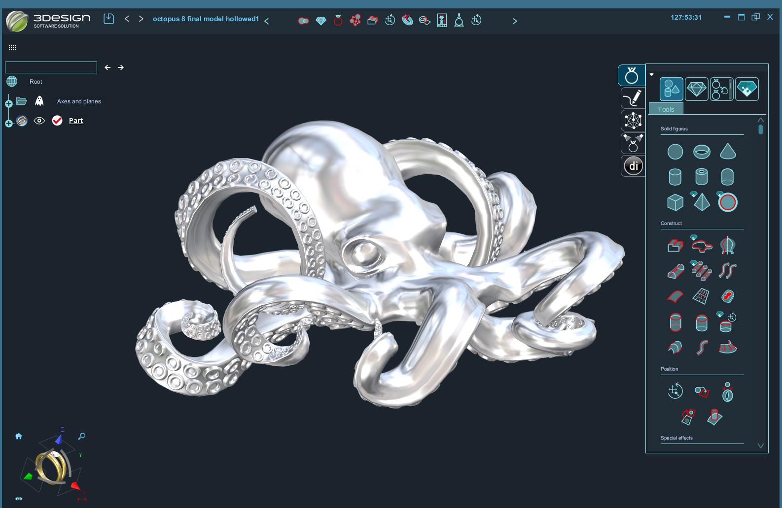 3Design design process finished model