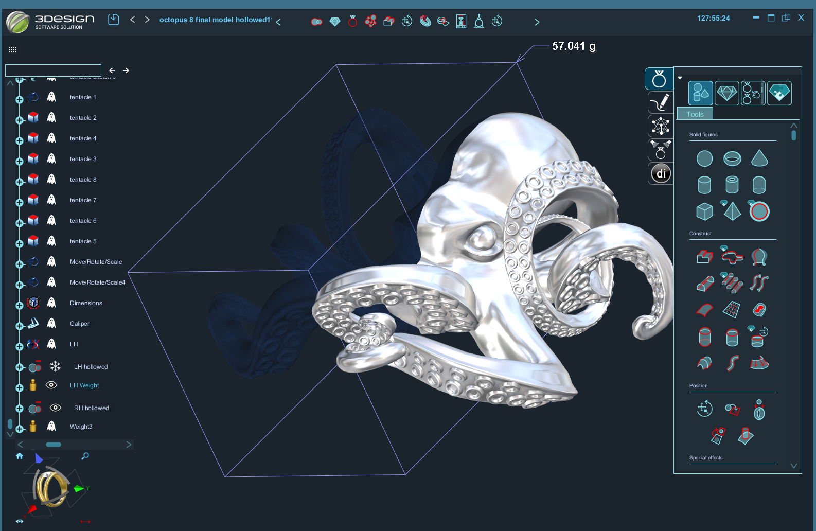 screen grab octopus halved